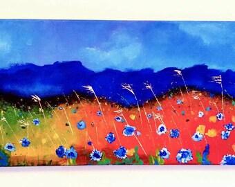 Fields of Blue // original acrylic painting