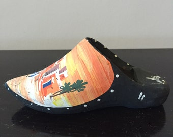 Vintage Hand-Made, Hand-Painted Iron Clog/Shoe