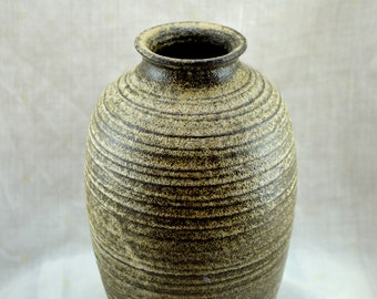 Semicoloreado ceramic jar
