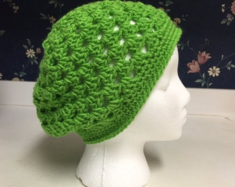 Crochet Granny Stitch Shell Beanie Hat