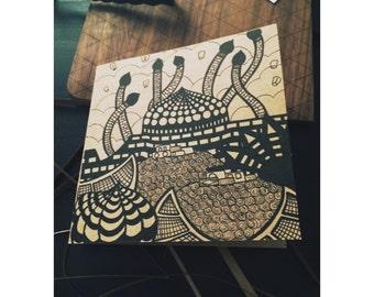 "Handmade card ""Istanbul"""