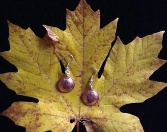 Canadian Penny Earrings