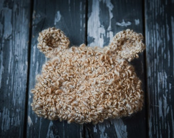 Newborn Fuzzy Bear Hat Baby Shower Gift