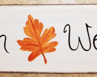 HANDPAINTED FALL/AUTUMN sign