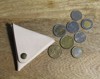 Leather Triangle Coin Purse / Wallet