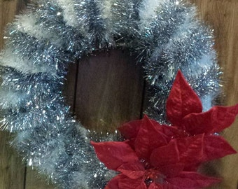 Poinsettia Garland Wreath