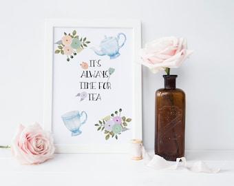 Time for Tea Print - Kitchen Print