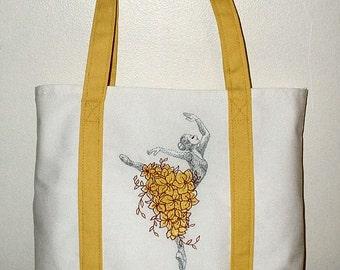 Ballet Dancer - Yellow Tote