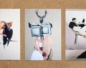 Lot de 10 cartes postales - 2 x 5 designs