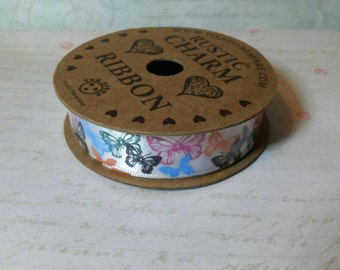 Decorative ribbon with butterflies