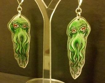 Evil octopus earrings