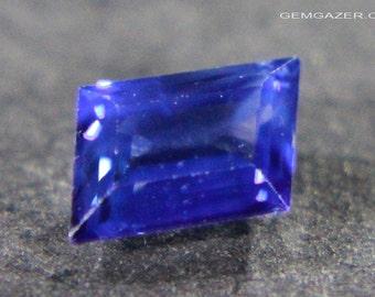 Blue Sapphire, faceted, Sri Lanka.  1.01 carats.