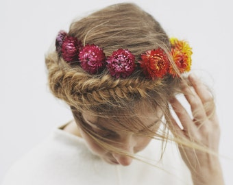 Fanta Fade - Dried Flower Crown