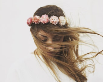 Rose Fade - Dried Flower Crown