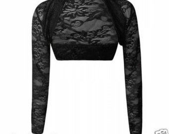 Black lace bolero  size regular
