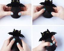Bat, Halloween decor, Scary, Stress ball, Funny gift, Miniature bat, OOAK gift, Stuffed animal, Vampire, Horror, Kids gift, Kawaii, Charm