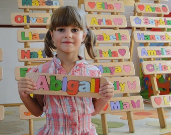 WOODEN PUZZLE NAME - Abigal