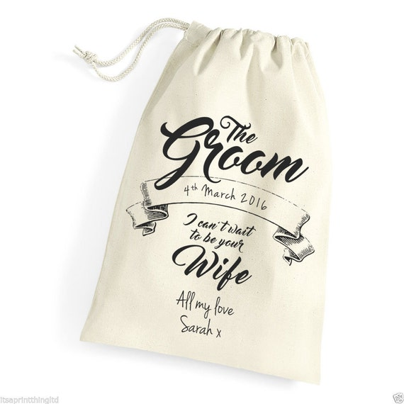 Morning Of Wedding Gift For Bride : ... Gift Bag for The Groom on Wedding Day, Morning Husband to be gift
