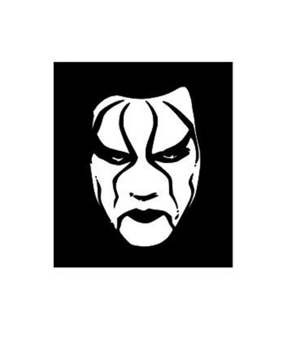 Wwe Sting Wrestler Svg Files Dxf Files Eps By Vinyldecalsworld
