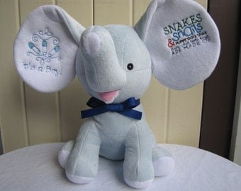 "It's a boy blue ""Cubbie""  Elephant"