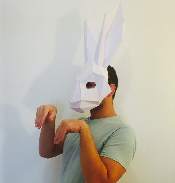 how to make a paper rabbit face
