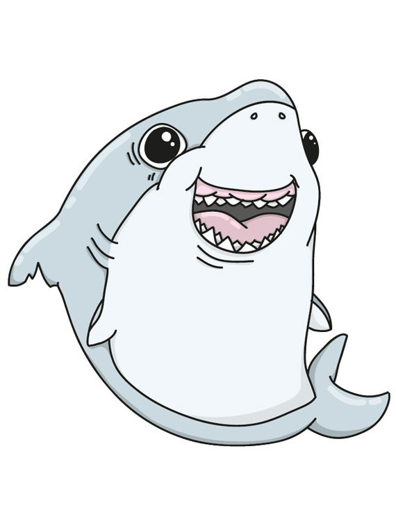 Includes 2 tattoos: cute shark temporary tattoo sweet shark