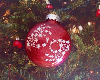 ASL Interpreter Snowflake Glitter Ornament