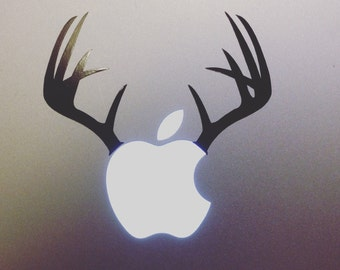 Deer Stag Doe Antlers Macbook decal