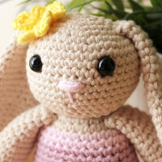 Rabbit - Animalius. Amigurumi Pattern PDF, Farm Animal Toy, Nursery Doll, Crochet Pattern, Cute Children Gift, DIY, Crafts, Instant download