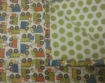 Double Baby Receiving Blanket  (or Throw)--green