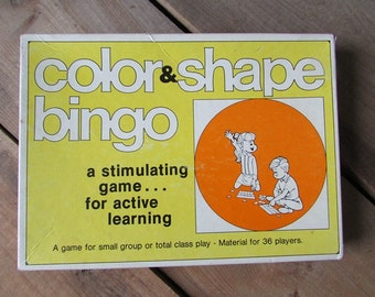 Vintage Learning Game Color and Shape Bingo