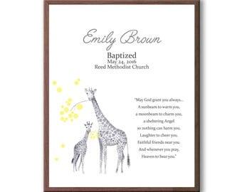 Christening Gift For Godchild Girl, Baptism Gift, Baptism Gift For Baby, Dedication Art Gift
