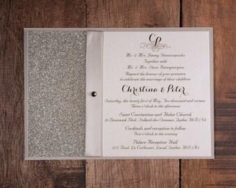 champagne wedding invitation   etsy, Wedding invitations