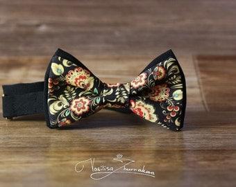 Russian Khokhloma bowtie - bow tie