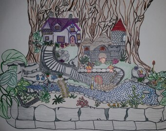 Printable Coloring Page, Fairy tree