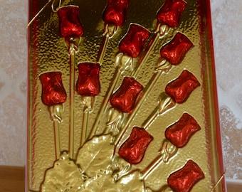 Rose Chocolate, Chocolate Flowers, Chocolate Gift, Valentine's Chocolate, Candy, Candy Rose, Chocolate Rose, Candy, Chocolate Gift, Roses