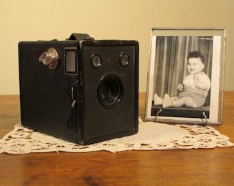 Agfa Ansco Box Camera, Vintage Black and White Photo Camera, 1930s