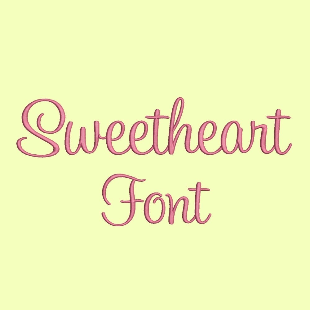 Sale size sweetheart embroidery font bx fonts