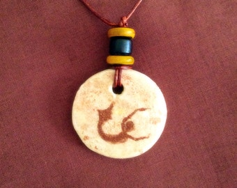 Mermaid Petroglyph Necklace, Mermaid Necklace, Cave of Swimmers,  Merpeople, African, Paleolithic, Neolithic, Primitive
