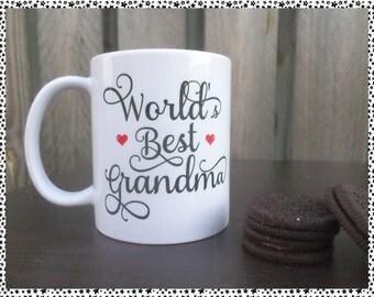 World's Best Grandma/Nan/Grandmother/Mum/Mother