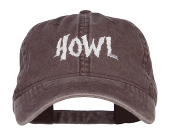 Howl Embroidered Washed Cap