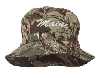 Maine Embroidered Bucket Hat