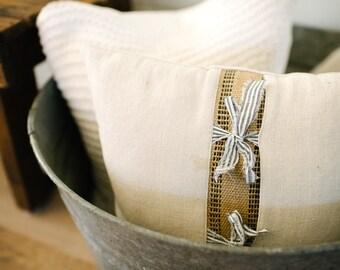 Farmhouse Cotton & Webbing Pillow
