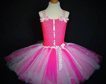 Pink tutu dress inspired by hello kitty