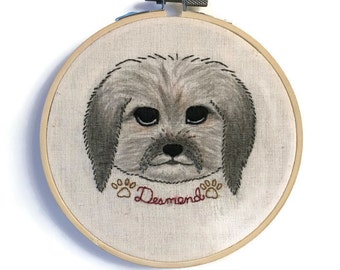 Custom Dog Embroidery, 5 Inch Hoop