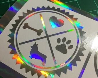 Corgi Seal (Rainbow Foil)