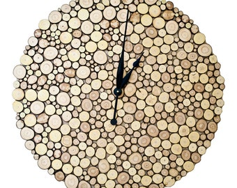 Big Woody - Wall Clock made of branch slices 70 cm