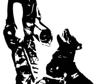 Window Decal- Bark & Hold Rottie