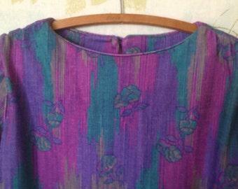 Purple/pink shift dress