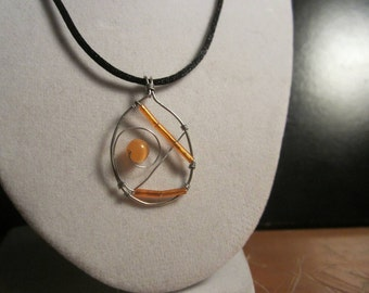 Orange Pendant for Leukemia *Cancer Charity Listing* - Wire Jewelry
